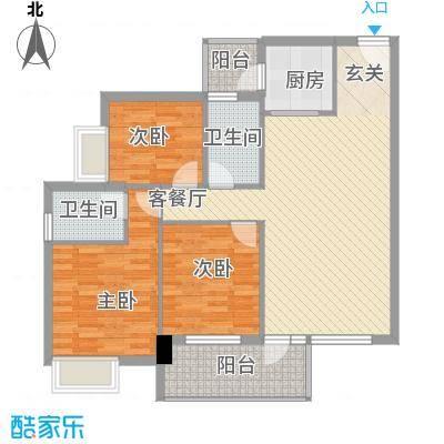 敬业楼117.00㎡敬业楼3室户型3室