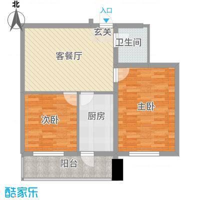 环北家园三期73.60㎡环北家园三期户型图2室1厅1卫户型10室