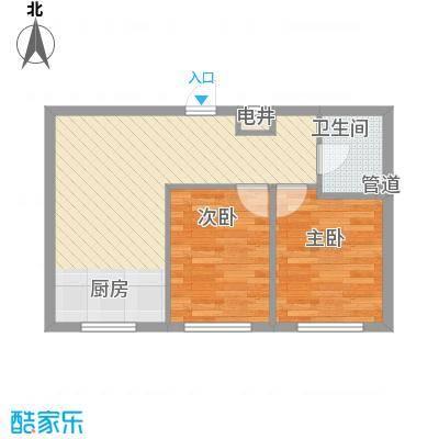 幸福人家60.00㎡幸福人家户型图5、6号楼E户型1室1厅1卫1厨户型1室1厅1卫1厨