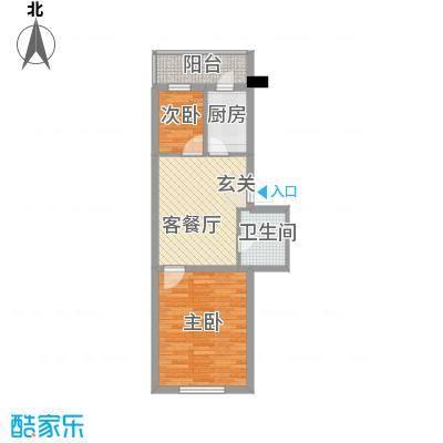 环北家园三期61.00㎡环北家园三期户型图1室2厅1卫户型10室