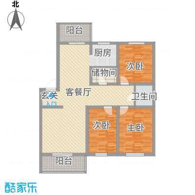 环北家园三期127.53㎡环北家园三期户型图3室2厅户型10室