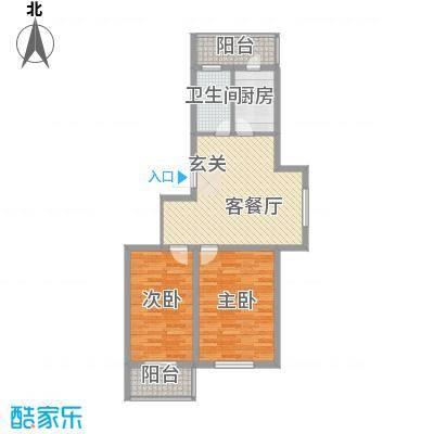 环北家园三期83.69㎡环北家园三期户型图2室2厅1卫户型10室