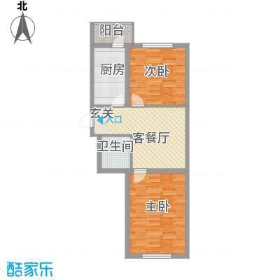 环北家园三期73.44㎡环北家园三期户型图2室1厅1卫户型10室