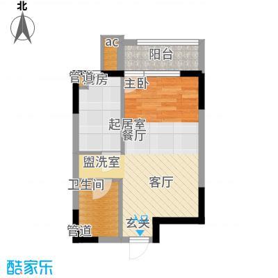 沿海赛洛城46.00㎡沿海赛洛城户型图B4#E户型1室1厅1卫户型1室1厅1卫