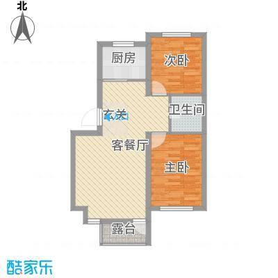 宏发三千院73.82㎡宏发三千院户型图M-3-1#户型2室2厅1卫户型2室2厅1卫