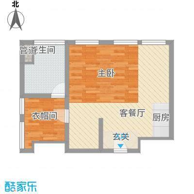 亿锋财富中心77.00㎡亿锋财富中心户型图C户型1室1厅1卫1厨户型1室1厅1卫1厨