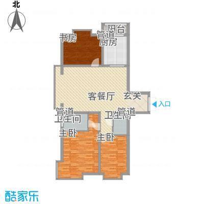 枫景名城128.76㎡枫景名城户型图3室2厅2卫户型10室