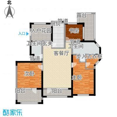 听雨观澜134.00㎡听雨观澜户型图G户型3室2厅2卫1厨户型3室2厅2卫1厨