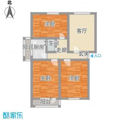 普利永庆街1号98.57㎡普利永庆街1号户型图户型G3室1厅1卫户型3室1厅1卫