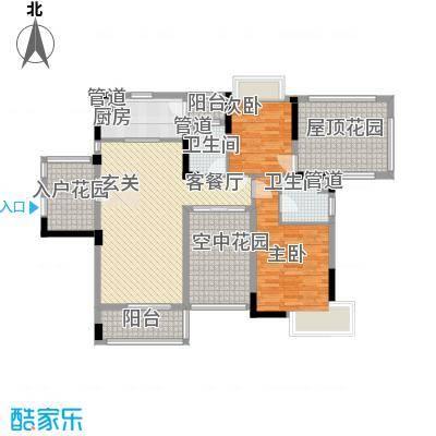 富恒浅水湾105.14㎡富恒浅水湾户型图11-13栋2层02户型3室2厅2卫1厨户型3室2厅2卫1厨