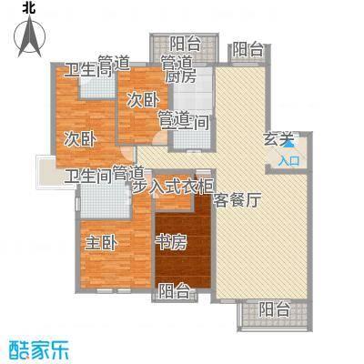 知音�苑 4室 户型图