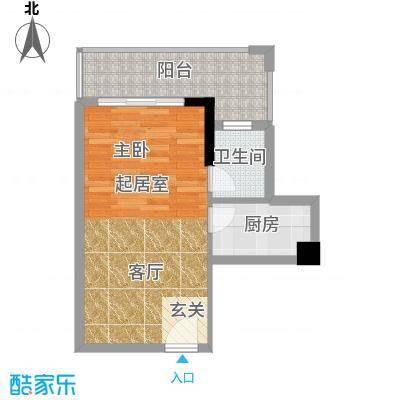 学府1号  1室  户型图