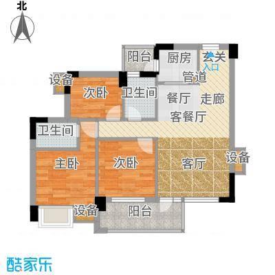 学府1号  3室  户型图