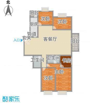 东城万福楼 3室 户型图