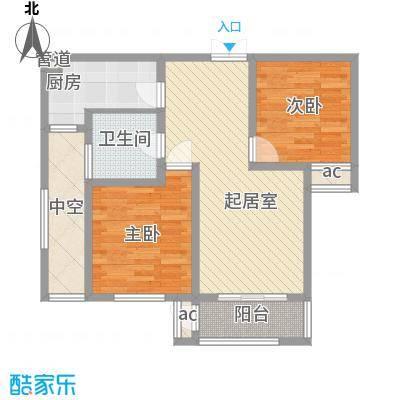 东泰花园泰华苑 2室 户型图