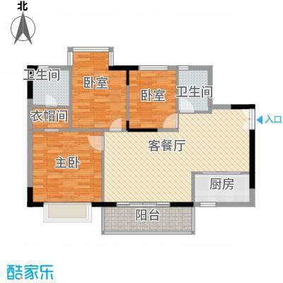 合正锦园 3室 D2-1型户型图