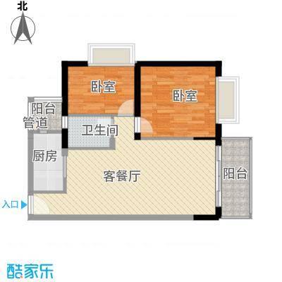 合正锦园 2室 D1-1型户型图