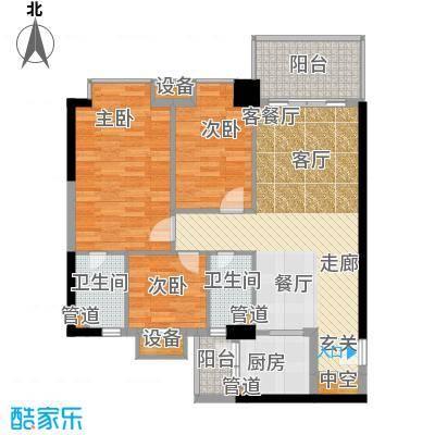 丰润阁 3室 户型图