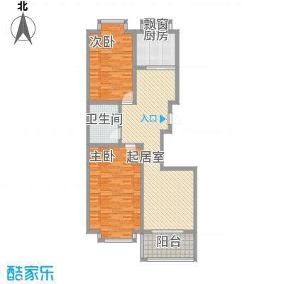 明湖花园户型图D户型 2室2厅