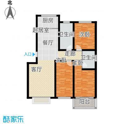 济南玫瑰园新城120.33㎡济南玫瑰园新城户型图B户型3室2厅2卫户型3室2厅2卫