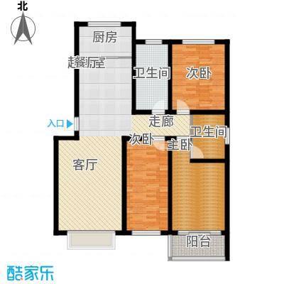 济南玫瑰园新城119.86㎡济南玫瑰园新城户型图多层B3室2厅2卫户型3室2厅2卫