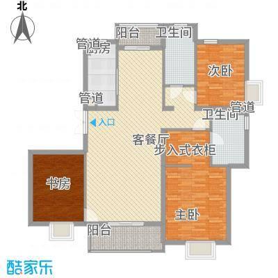 东亚国际城147.22㎡东亚国际城户型图7号楼B户型3室2厅2卫1厨户型3室2厅2卫1厨