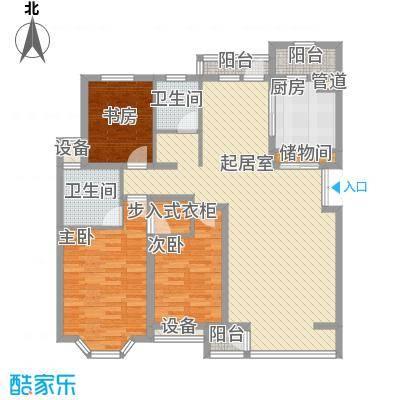 河畔新城二期220.00㎡河畔新城二期3室户型3室