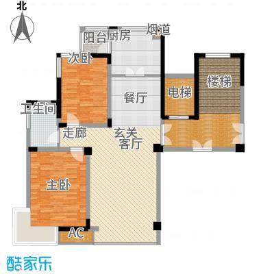 中房凌云花园110.00㎡中房凌云花园2室户型2室