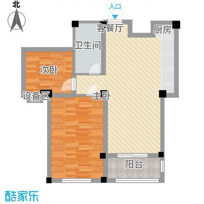 水木华庭90.00㎡水木华庭户型图F户型2室2厅1卫1厨户型2室2厅1卫1厨