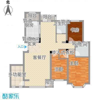 河畔新城四期143.00㎡河畔新城四期3室户型3室