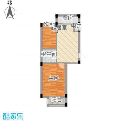长城世家57.09㎡长城世家户型图2室1厅1卫1厨户型10室