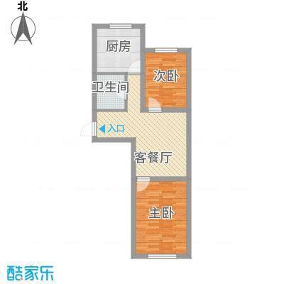 大禹兰庭花园65.05㎡大禹兰庭花园户型图2室1厅1卫户型10室