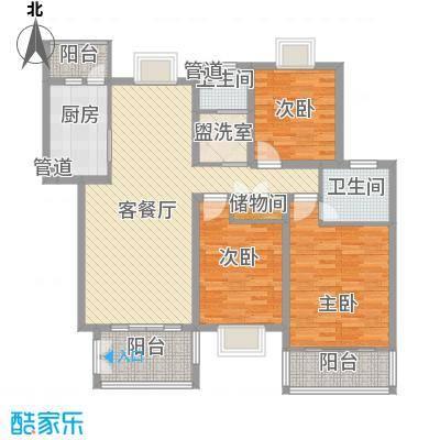 嘉贤庄嘉贤庄户型图H户型3室2厅2卫1厨户型3室2厅2卫1厨