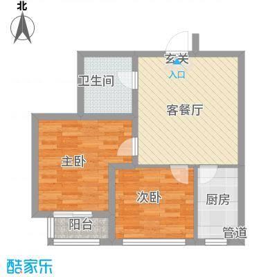 凤翔新城二期 2室 户型图