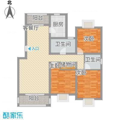 三岛龙州苑户型图豪华大三房户型 3室2厅2卫1厨