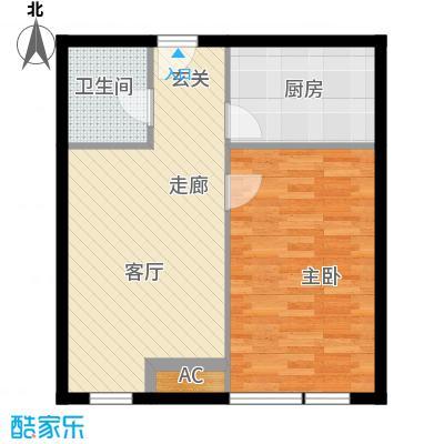 开发区国际大厦84.13㎡开发区国际大厦户型图F户型1室1厅1卫1厨户型1室1厅1卫1厨