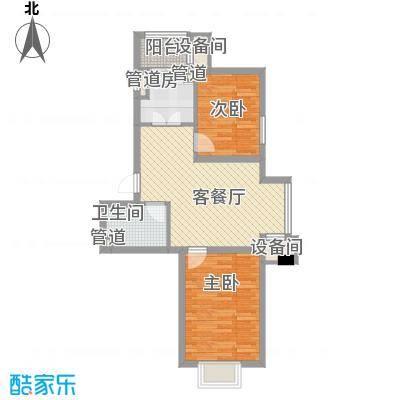 北美家园72.76㎡北美家园户型图F户型2室2厅1卫户型2室2厅1卫