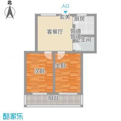 金润花园75.03㎡金润花园户型图户型图2室1厅1卫户型2室1厅1卫
