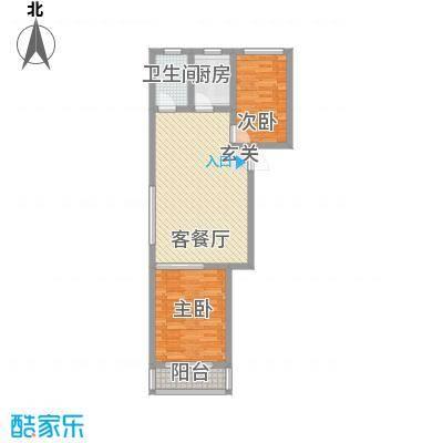 金润花园84.03㎡金润花园户型图户型图2室2厅1卫户型2室2厅1卫