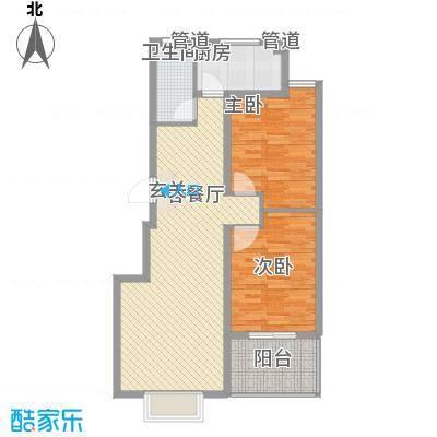 东方御景93.25㎡东方御景户型图二居室2室2厅户型2室2厅