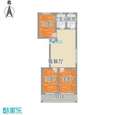 金润花园108.87㎡金润花园户型图户型图3室2厅1卫户型3室2厅1卫