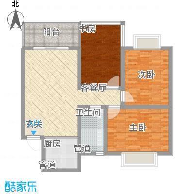 东方御景113.00㎡东方御景户型图三居室3室户型3室