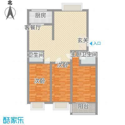 新城金水岸131.10㎡新城金水岸户型图3室2厅2卫户型10室