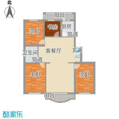方迪东阁134.00㎡方迪东阁户型图4室1厅1卫户型10室