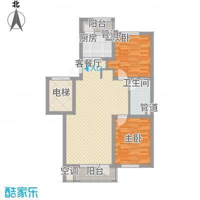 听雨观澜88.00㎡听雨观澜户型图4B户型标准层2室2厅1卫1厨户型2室2厅1卫1厨