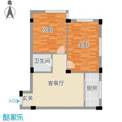 庆军公寓77.63㎡庆军公寓户型图2室1厅1卫1厨户型10室