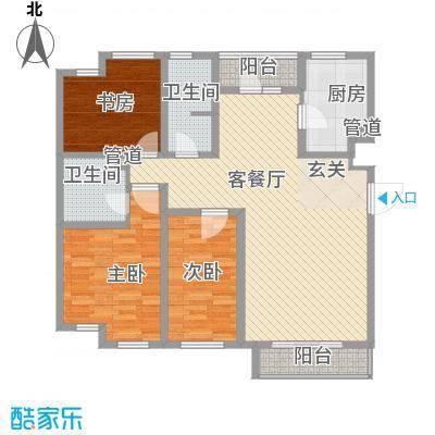 万科中央公园137.00㎡万科中央公园户型图3室2厅2卫户型10室