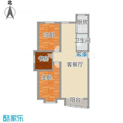 富山花园123.28㎡富山花园户型图3室2厅1卫户型10室