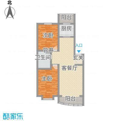 富山花园108.39㎡富山花园户型图2室2厅1卫户型10室