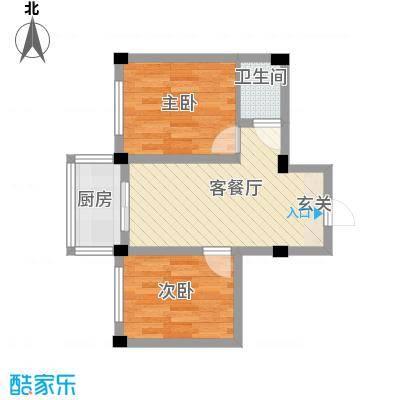 庆军公寓54.85㎡庆军公寓户型图2室1厅1卫1厨户型10室